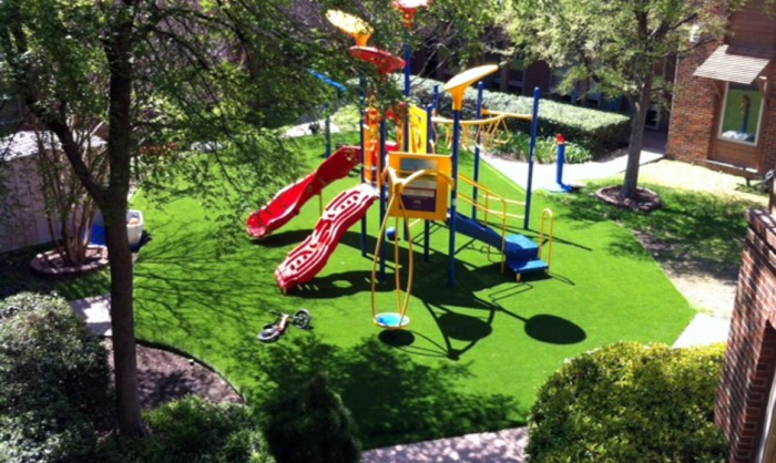 Artificial Grass for Playgrounds in Dallas